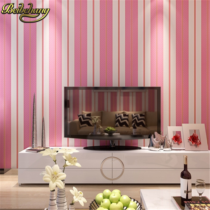beibehang Modern simple wide stripe wallpaper for living room ...