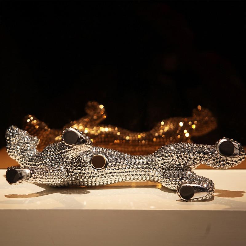 Керамика ремесла повезло слон украшения творческий современный домашний декор украшения Керамика фигурки животных фарфоровые статуэтки с... - 3