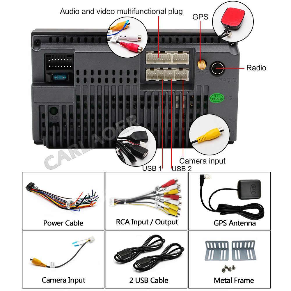"""2 Din Android 8,1 reproductor de vídeo Multimedia para coche 7 """"Universal 2DIN estéreo radio para coche GPS para Volkswagen Nissan Hyundai kia toyota"""