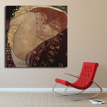 Klimtes Danae Oil Painting Abstract Canvas Art Elfen Lied Universe Wall Picture Print Living Room Home Decoration Artwork