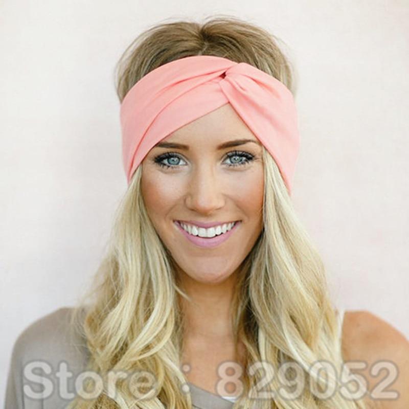 77a2ba597b90 Twist Turban Headband for Women Bows Elastic Sport Hairbands Head Band Yoga  Headbands Headwear Headwrap Girls Hair Accessories – China Mall