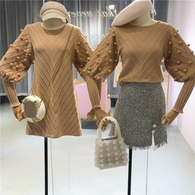 Suéteres Sweater short Invierno Dulce Pink Mujeres 2018 Beige Jumper Suéter  Moda Khaki Streetwear long Pullover long Short Otoño ... 8891ce48e535