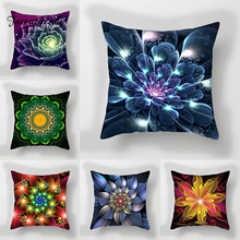 Fuwatacchi Home Decoration Pillowcase Contrast Flower Print Cushion Cover Gradient Floral Pillows for Car Office New 2019