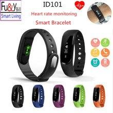 ID101 Smart Wirst Группа Фитнес-Трекер Монитор Сердечного ритма Управления Музыкой импульсный часы для IOS Android pk ID 115 fit бит miband 2