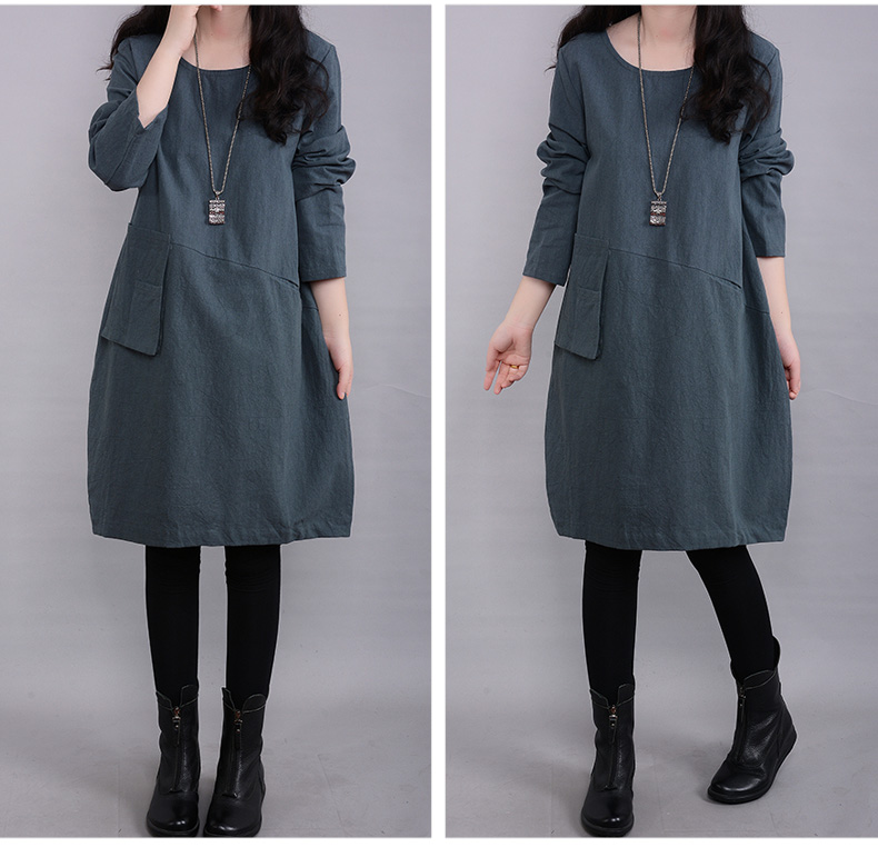New 2017 Winter Autumn Casual Maternity Dresses Pregnancy Dress for Pregnant Women Loose Knee length Ropa