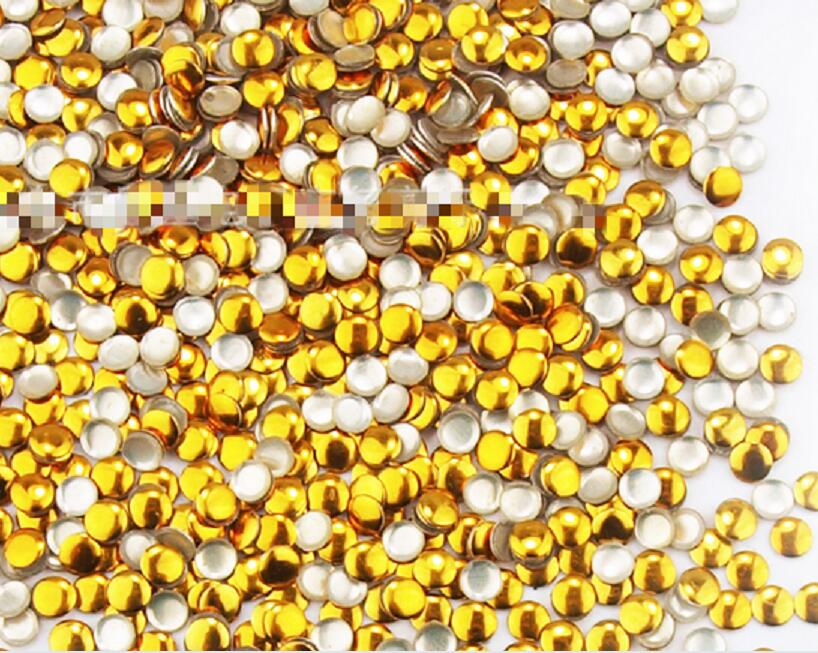 100pc / pack round metal Liu nail nail jewelry gold / silver color optional 1.5,2,3mm