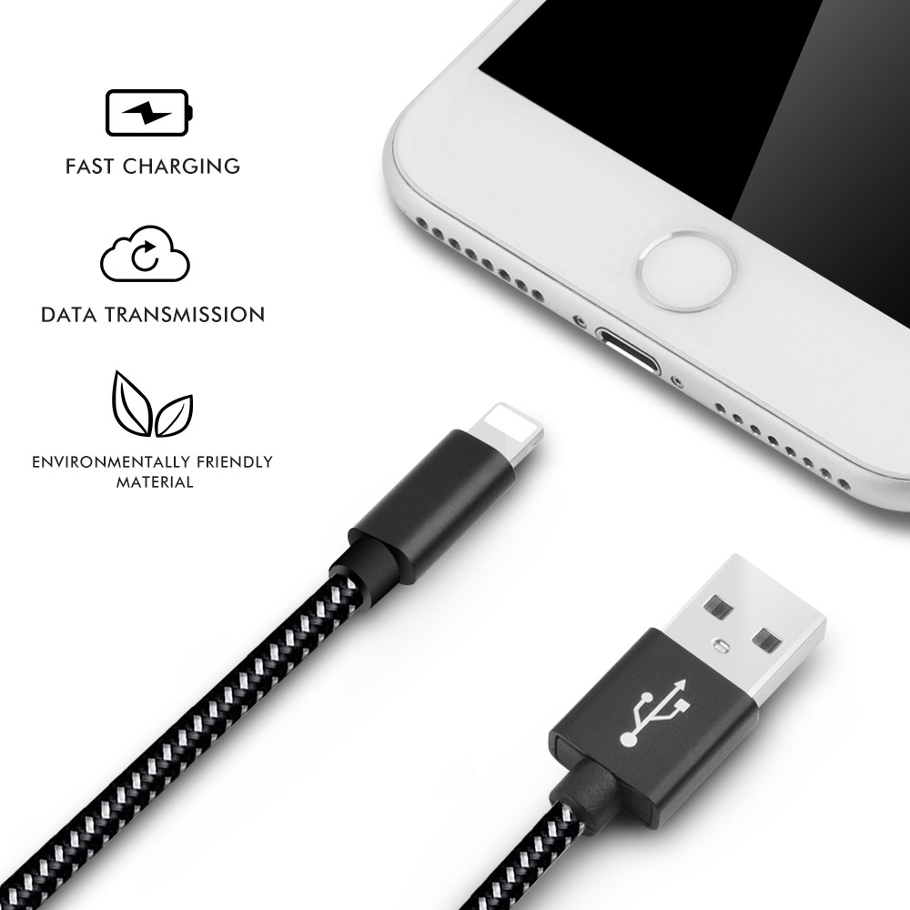 E T 4PCS usb cable for lightning cable Fast Charging Cable iPhone charger cord data Cable for iPhone plus min Xs max Xr X 8 7 6