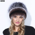 Winter Rex Rabbit Adult Fur Hat For Women With Fox Pom Poms Top Knitted Beanies Hats 2016 New Brand Causal Good Quality Caps