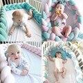Детская кровать бампер 200 см завязанная узлом, заплетенная кроватка для новорожденного ограждение кроватки Pad защита у