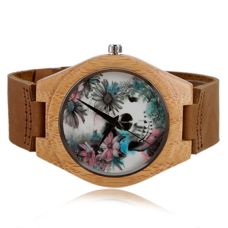 Quartz Madera Bamboe Natuur Hout Horloges Lederen Band Band Mode - Herenhorloges - Foto 5