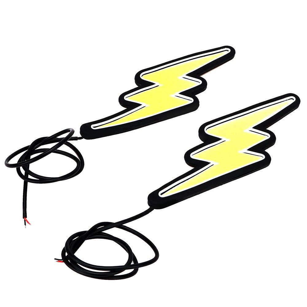 Itimo автомобильные фары наружное освещение молния форма cob светодиодная лампа автомобиль дальнего света гибкая дневного света drl автомобиля ...