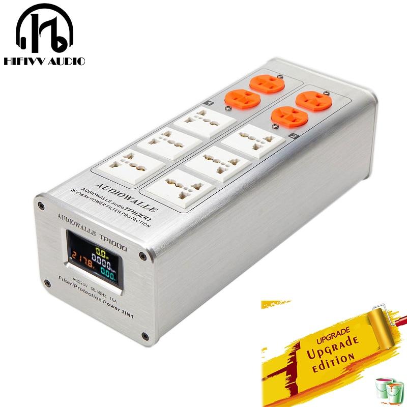 AUDIOWALLE hifi Power filter TP1000 Power filter socket protection voltage display Multifunctional lightn proof socket