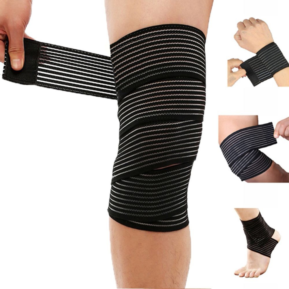 Breathable Elastic Bandage Compression Knee Support Protector Sports Strap Wrap Bands For Wrist Ankle Elbow Calf Thigh Leg Waist