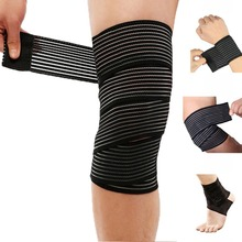 Breathable Elastic Bandage Knee Pads Sports Brace Support Protector Bodybuilding