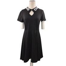Peter Pan Kragen Kleid Schwarz Kaufen billigPeter Pan Kragen