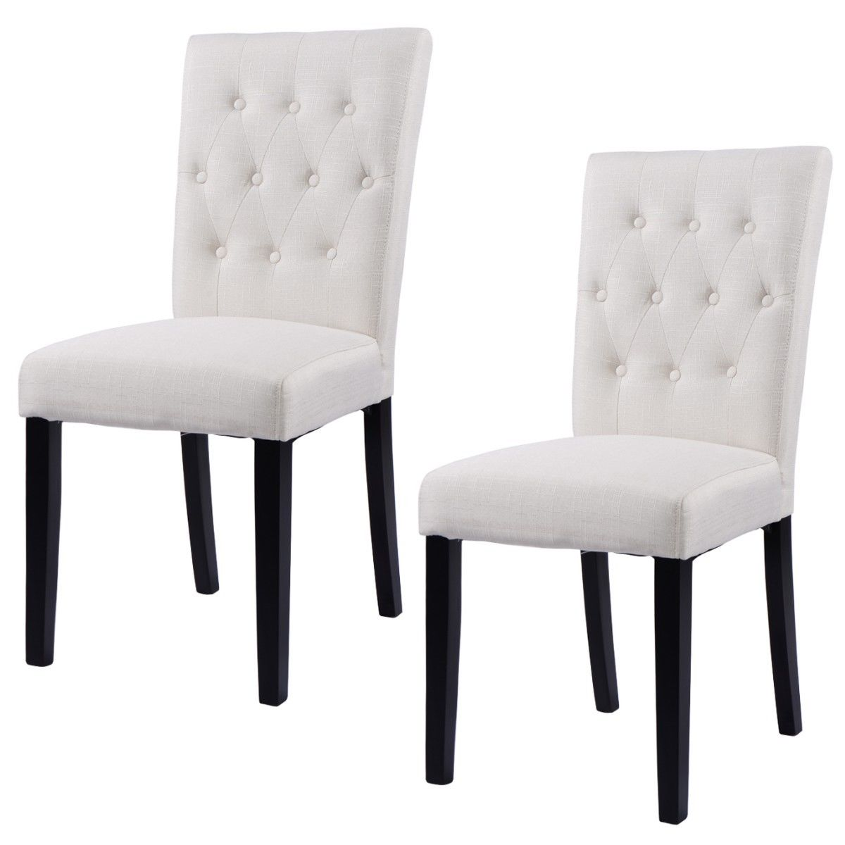 Giantex Set of 2pcs Fabric Dining Chair Armless Chair Modern Home Kitchen Living Room Furniture HW52778BE цена
