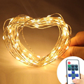 10M 33Ft water[proof 100 led Christmas Copper starry fairy lights String garland lighting+DC power supply+RF remote controller