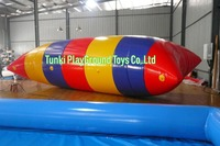 summer play exciting game durable inflatable water blob,water catapult for sales