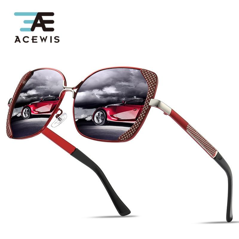 ACEWIS модный бренд поляризационные солнцезащитные очки для женщин для 2019 Новый дизайн 6 цветов леди вождения квадратный рамки защита от