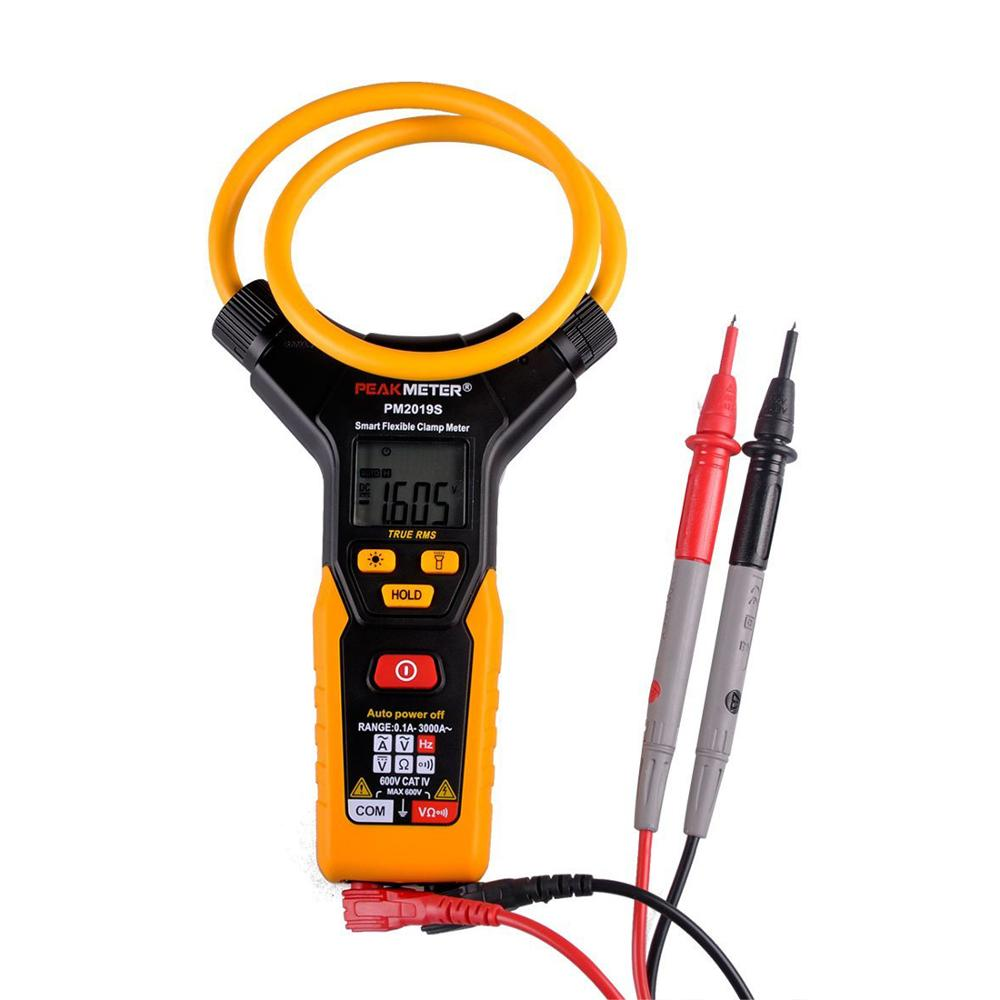 PEAKMETER PM2019S Smart AC Digital Flexible Current clamp Multimeter Voltage Resistance Frequency Clamp Meter