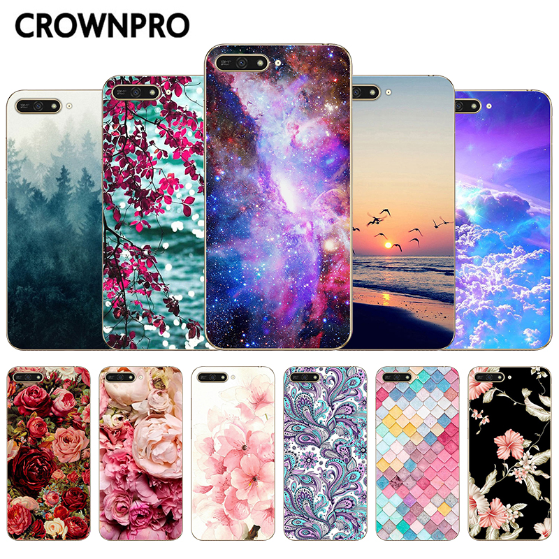 CROWNPRO Fundas Protective-Cover Huawei Y6 Silicone PRIME Cute for TPU Y 6