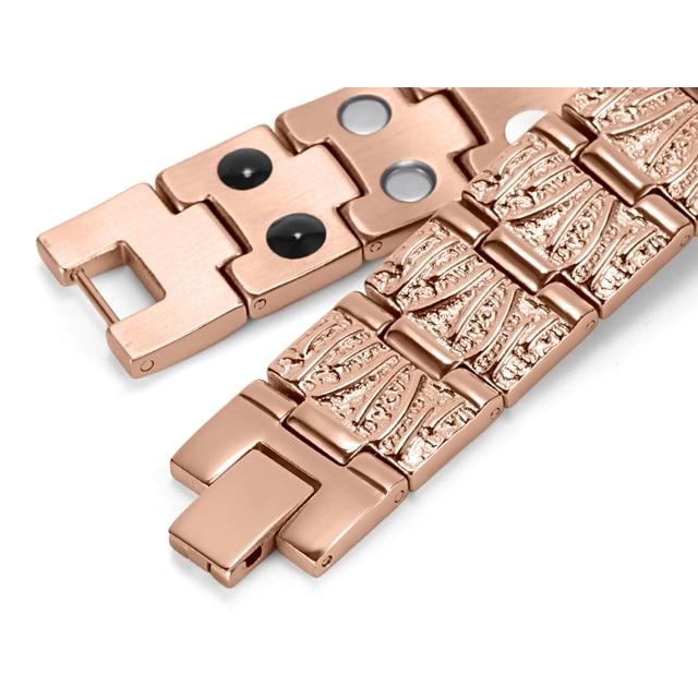 HTB1dVAXRVXXXXcLXFXXq6xXFXXXK - RainSo Titanium Magnetic Bracelets & Bangle 2 Row Health Care Elements Germanium Healing Bracelet Health Hologram Wristbands