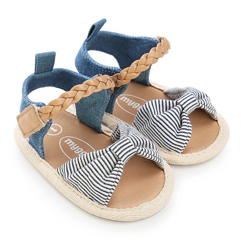 Bayi perempuan Sandal Musim Panas Bayi perempuan Sepatu Katun Kanvas - Sepatu bayi - Foto 4
