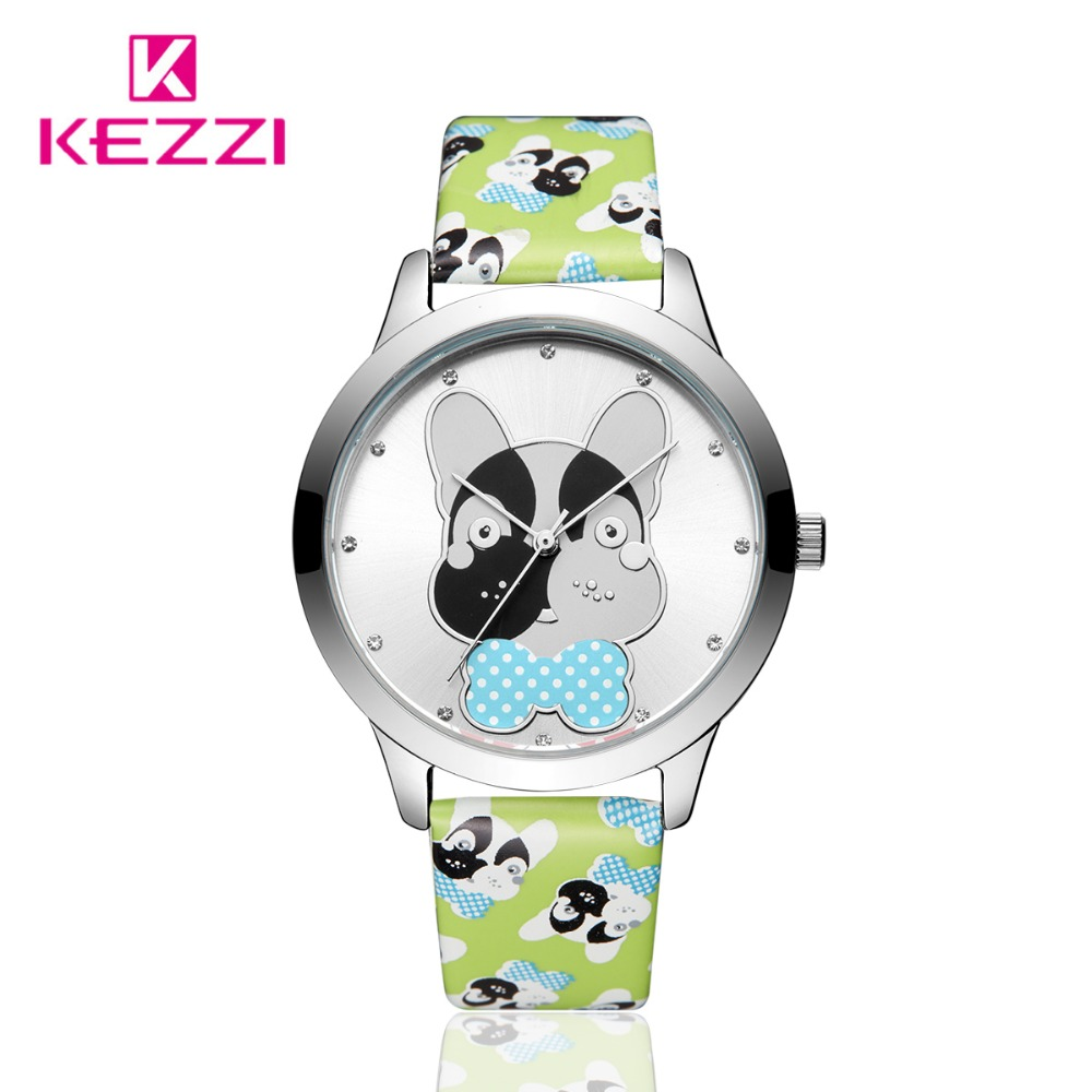 Kezzi Brand Cartoon Watch Children Watches Kids Leather Strap Waterproof Quartz Watch For Boy Girls Student Clock montre enfant new cartoon children watch girl watches fashion boy kids student cute leather sports analog wrist watches relojes k519