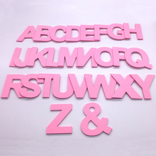 9cm/3.54 PVC Pink Uppercase English Letters Interior Wall Garden Wedding Decorative Alphabet Environmentally Friendly