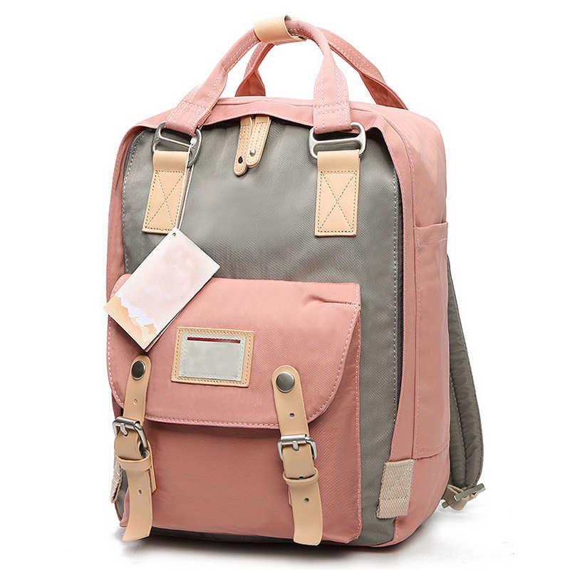 4e9333af841a Розовый девушка ткань Оксфорд рюкзак для женщин школьные ранцы женский  дорожная сумка колледж для тетрадь компьютер