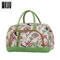 2016 New Print PU Men Travel Bags Women Portable Waterproof Large Capacity Luggage Duffle Bag Shoulder Travel Bag