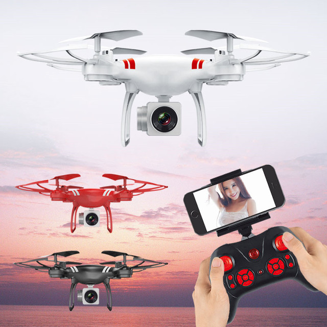 Mini RC Drone With Camera HD 4-Axis Aircraft Wide-angle 2MP 5MP WiFi Camera Real Time Video RC Quadcopter Drone KY101 For 2