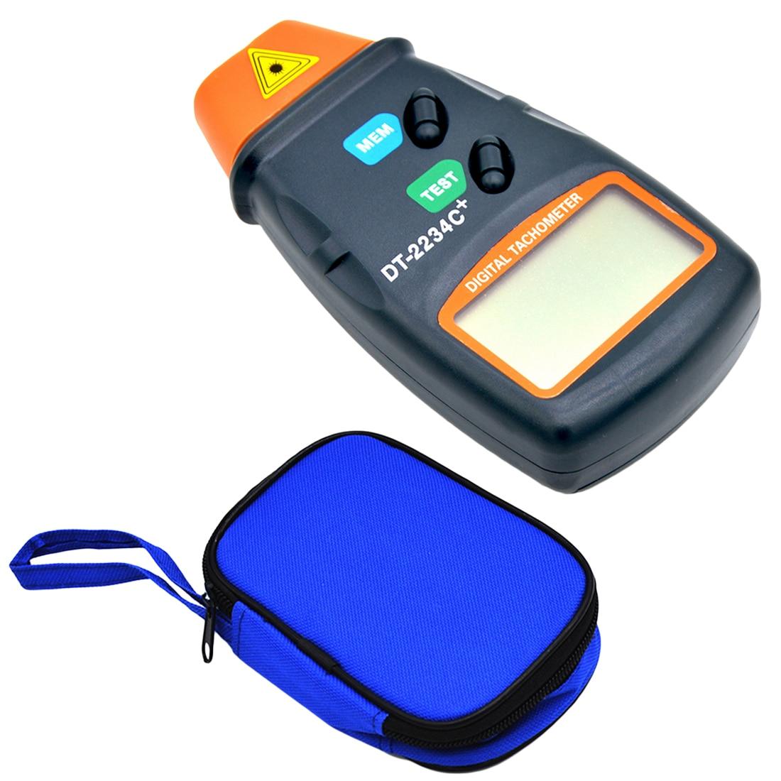 Laser Tachometer Non Contact Tach Tool Handheld Digital Laser Photo Tachometer Tester RPM Motors DC 9V 2.5RPM -99,999RPM