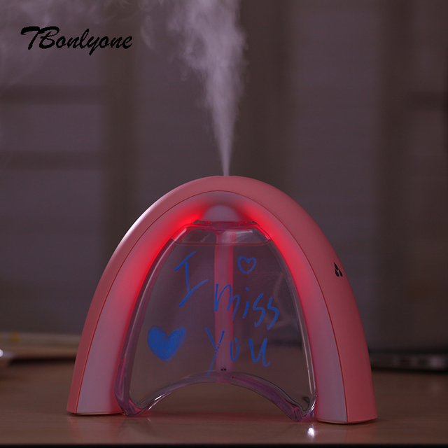 TBonlyone 400ML Mini USB Air Humidifier For Baby Living Bedroom USB Air Humidifier Aroma Essential Oil Ultrasonic Diffuser 2
