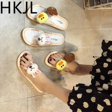 HKJL Fashion Sandals female fairy wind 2019 summer new students wild flat beach Rome style A485