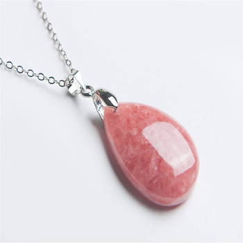 28*18*9mm Genuine Rhodochrosite Natural Gems Stone Fashion Pendant Bead Women Necklace Charms Waterdrop Pendant