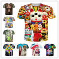 Harajuku t-shirt Men/Women Lucky Cat/pokemon/Silence/My lovely little pony Print 3d t shirt Plus size S-XXL Drop Shipping