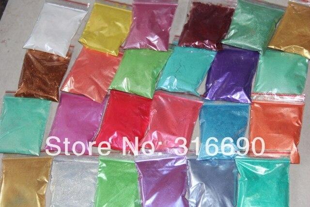 Polvo de pigmento de Mica brillante de 24 colores cósmicos-Sombras sutiles-para arcilla polimérica, artesanías de papel, resina, arte de uñas, etc.