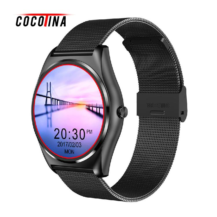 COCOTINA Blood Pressure Sedentary Reminder Heart Rate Monitor Bluetooth Smartwatch For IOS Android Wearable Devices LDZ7904 2017 new sfk s9 nfc mtk2502c smartwatch heart rate monitor bluetooth 4 0 smart watch bracelet wearable devices for ios android