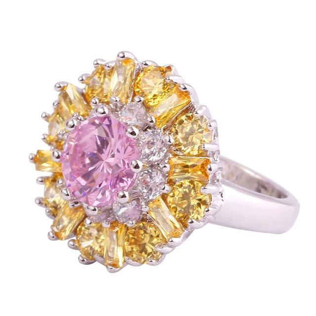 Flower Multi colour Stones Ring