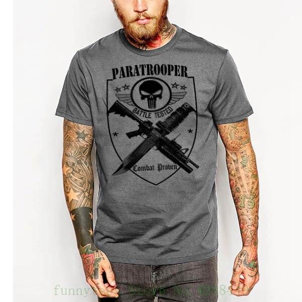 Military T Shirt Army Navy Marines Machine Gunner Sniper Airborne Paratrooper Tees Brand Clothing Funny Tshirt