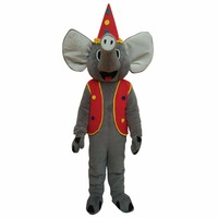 Custom Made Elephant With Coat Cartoon Mascot Unisex Plush Party Mascot Christmas Birthday Gift Mascot Costume