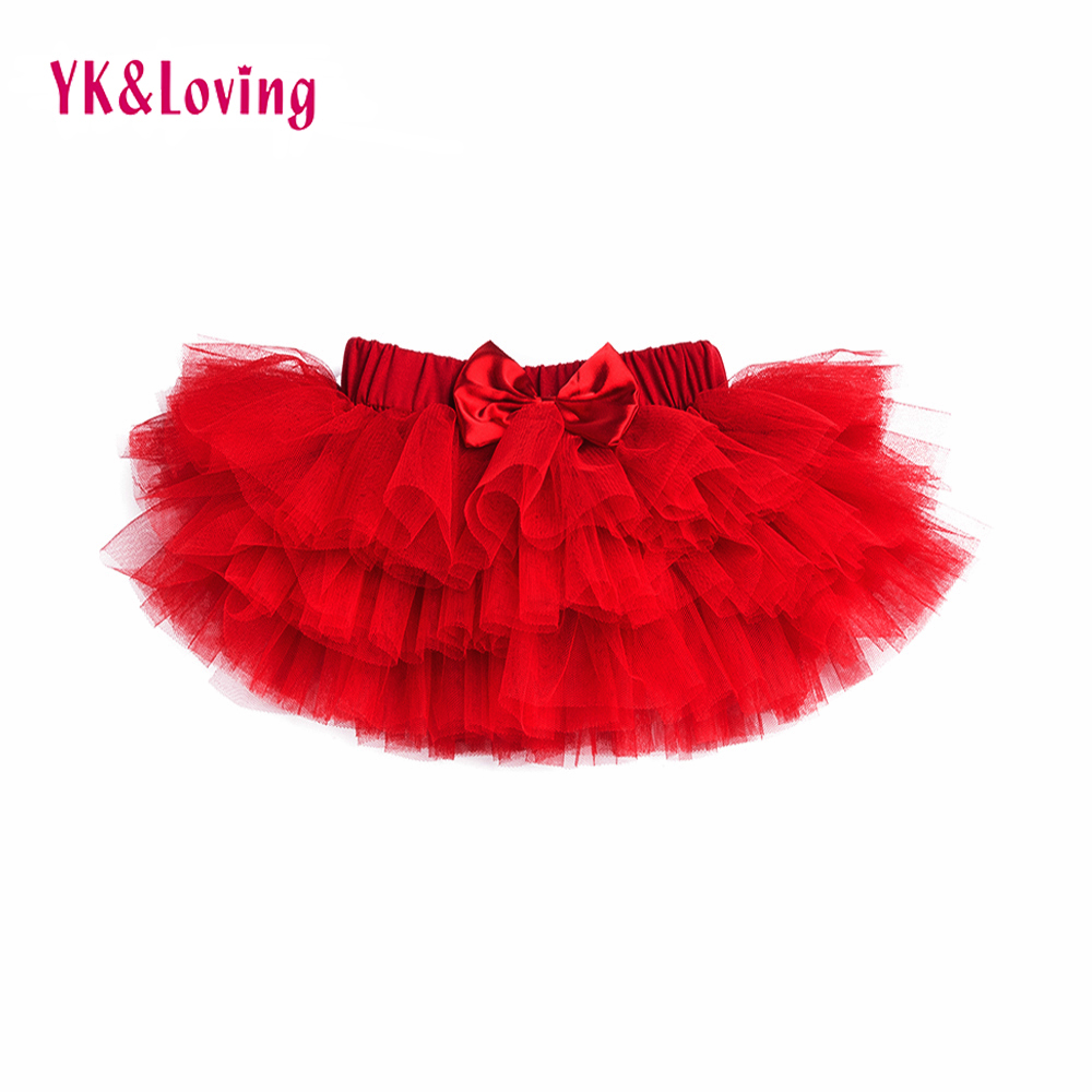 2017 Newborn Baby Girl Tutu Skirt Mini Tulle Candy Color Infantil Menina Kids Princess Pettiskirt Children Clothing Saias 0-2Y