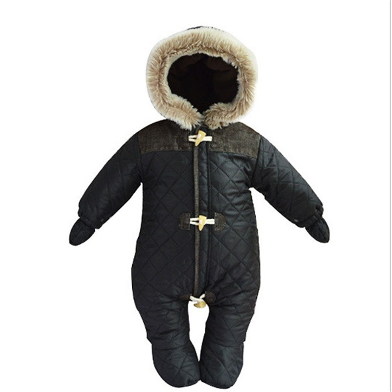 2016 Winter Baby Boys Girls Rompers Thicken Cotton Outerwear Weatherproof Warm Fluff Hooded Bebe Snowsuit Jumpsuit Clothes2016 Winter Baby Boys Girls Rompers Thicken Cotton Outerwear Weatherproof Warm Fluff Hooded Bebe Snowsuit Jumpsuit Clothes