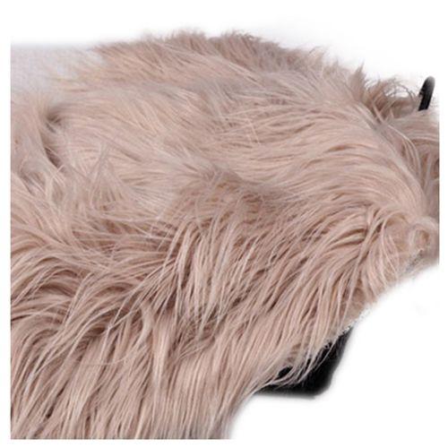 Baby Newborn Faux Fur Photography Photo Props Blanket Basket Stuffer Rug Beanbag Background Backdrop Khaki