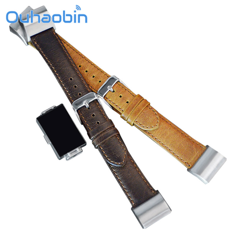 Ouhaobin Leather Buckle Wrist Watch Band Strap Horses Belt for fitbit charge2 Watch Sep  ...