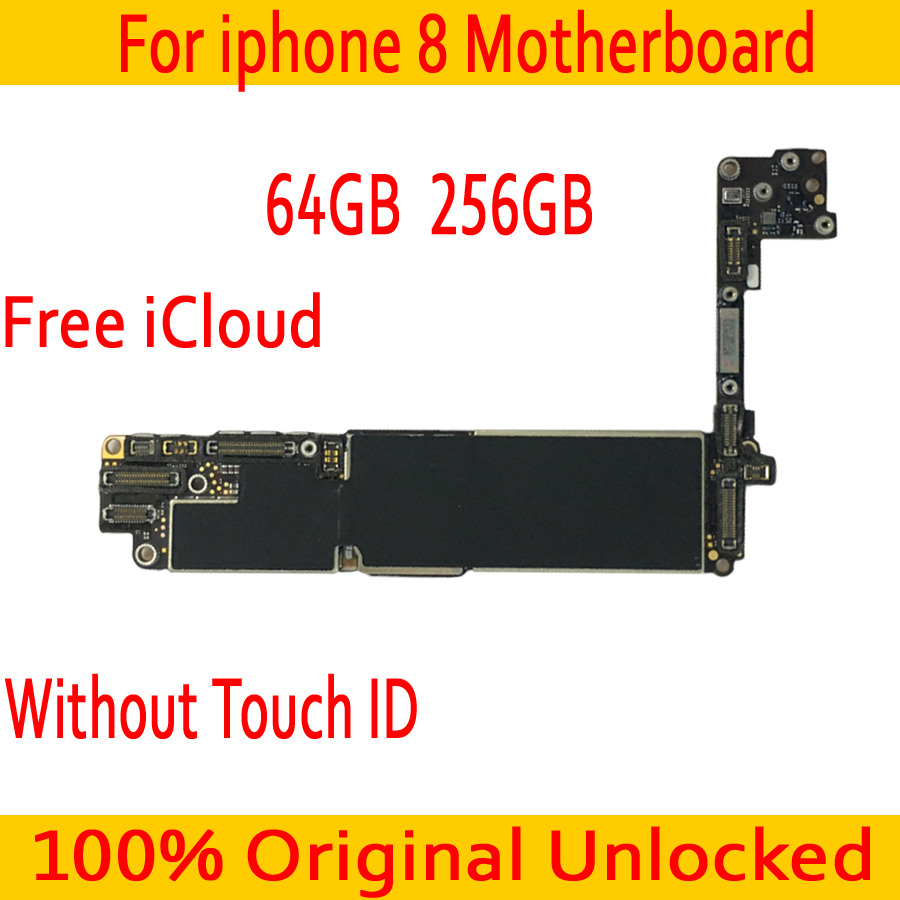 With IOS System for iphone 8 Motherboard without Touch ID 100% Original unlocked for iphone 8 Logic boards 64GB 256GBWith IOS System for iphone 8 Motherboard without Touch ID 100% Original unlocked for iphone 8 Logic boards 64GB 256GB