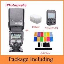 YONGNUO YN685C YN685 YN-685 Drahtlose HSS TTL Blitz Speedlite für Canon + YN622C-TX trigger + 12 farbe Filter + Diffusor