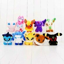 10Styles 10CM Eevee Sylveon Espeon Flareon Umbreon Glaceon Jolteon Vaporeon Leafeon & Mew Stuffed Animals plush Toys