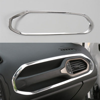 Sosung 1pcs Interior Car Co Pilot Handle Bezel Decorative Frame Ring Trim Sticker Cover Styling For